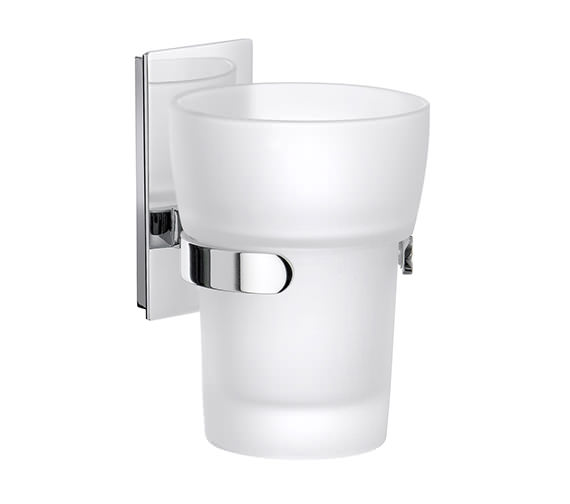 Smedbo Pool Frosted Glass Tumbler With Holder