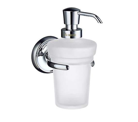 Smedbo Villa Frosted Glass Soap Dispenser With Holder