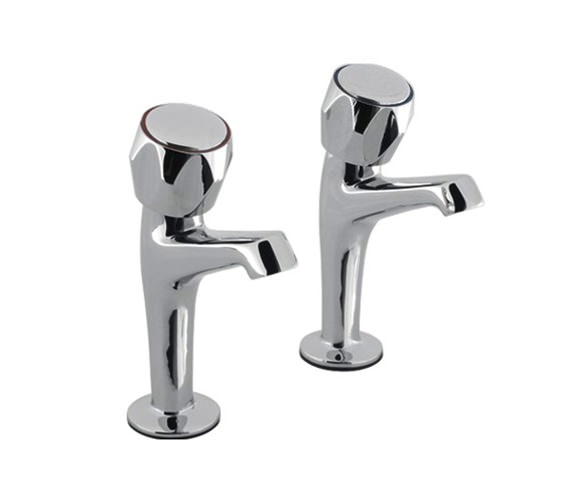 Aqva Skarra Designer Lever Sink Pillar Chrome Taps