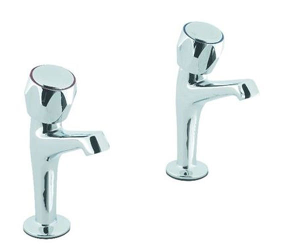 Alternate image of Aqva Skarra Designer Lever Sink Pillar Chrome Taps
