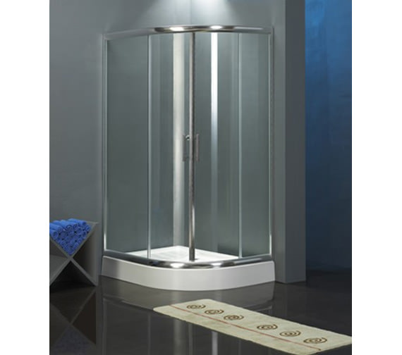 Aqva Quadrant Shower Enclosure Chrome 1200 x 1200mm