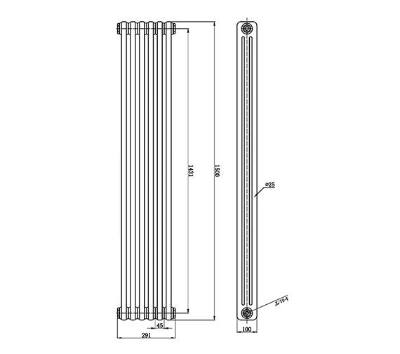 Technical drawing QS-V0812 / HX308