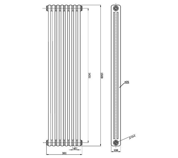 Technical drawing QS-V0813 / HX309