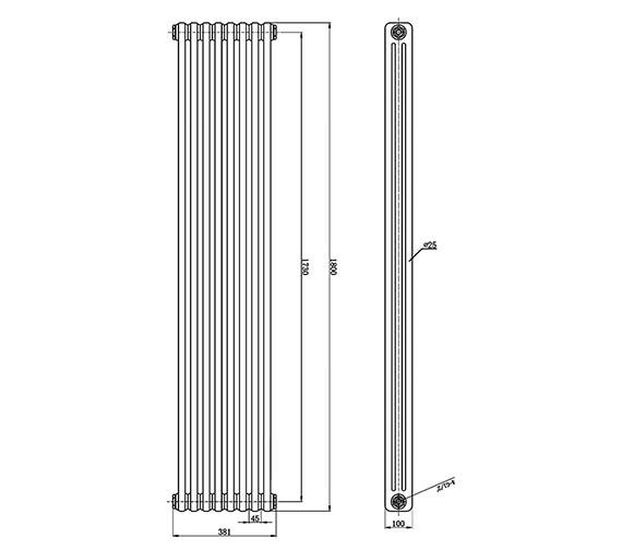 Technical drawing QS-V0816 / HX312