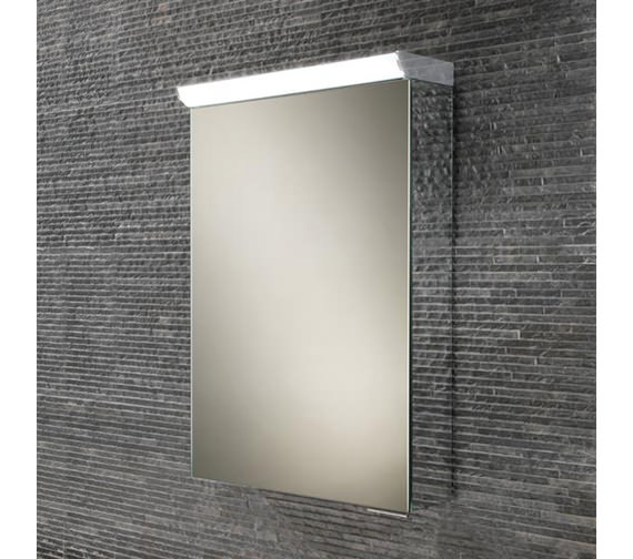 HIB Flux Compact LED Top Illuminated Mirror Cabinet 400 x 600mm