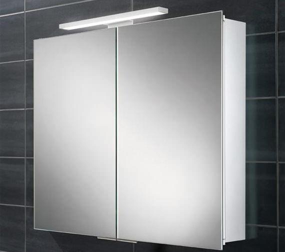 HIB Neutron Double Door LED Overlight Mirror Cabinet 600 x 700-730mm