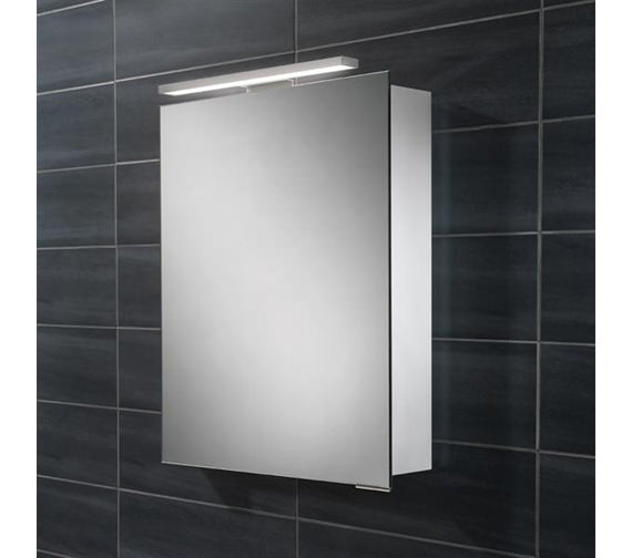 HIB Proton Single Door LED Overlight Mirror Cabinet 500 x 700-730mm