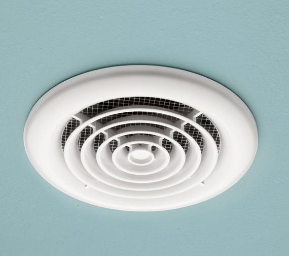 HIB Turbo Bathroom Inline Extractor Fan White
