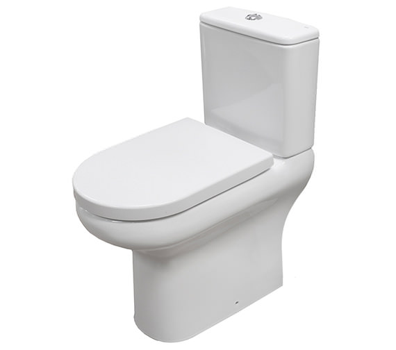 RAK Compact Deluxe 45cm High Rimless Close Coupled Full Access WC Without Seat