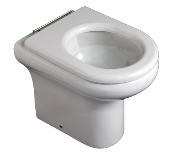 RAK Compact Special Needs Rimless 450mm High Back-To-Wall WC Pan