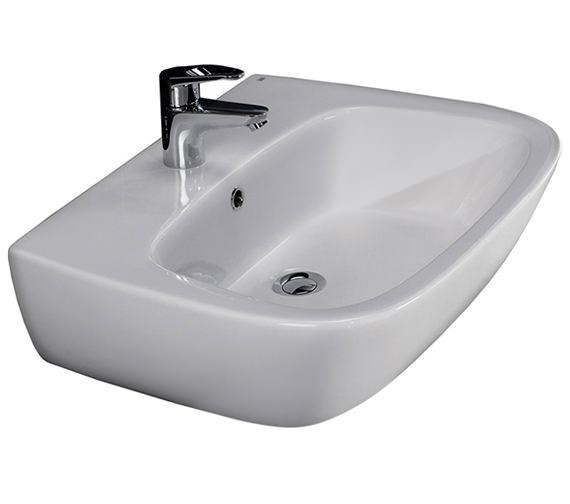 RAK Elena 500mm 1 Tap Hole Wash Basin - ELEN50BAS1