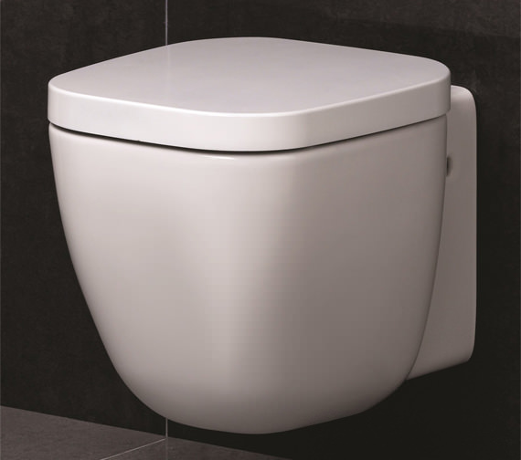 RAK Elena Wall Hung WC Pan With Soft Close Seat And Cover 520mm
