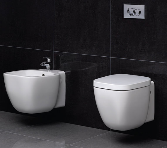 Additional image of RAK Elena Wall Hung Bidet 520mm - ELENWHBID