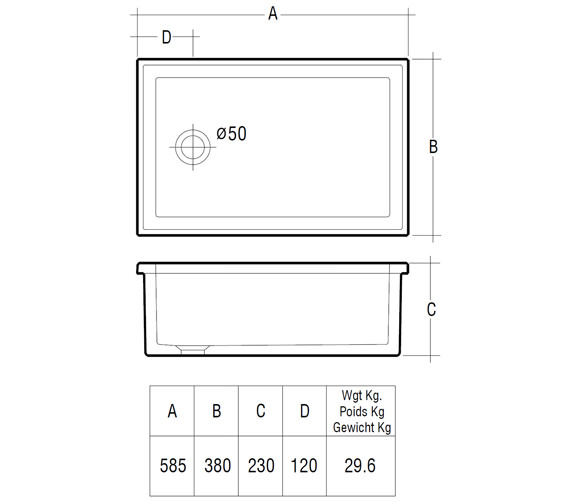 Technical drawing QS-V10072 / LABSINK3