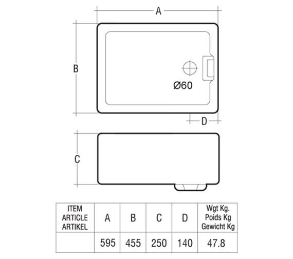 Technical drawing QS-V10081 / GOSINK8