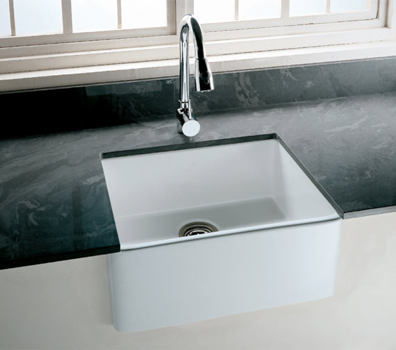 RAK Gourmet 2 Belfast Style Fireclay Over Or Undermount Kitchen Sink