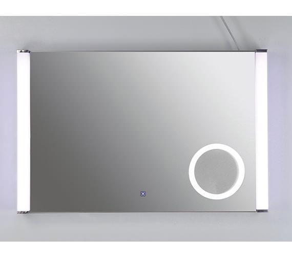 RAK Luminere Plus Silver Framed LED Touch Sensor Mirror 775 x 500mm