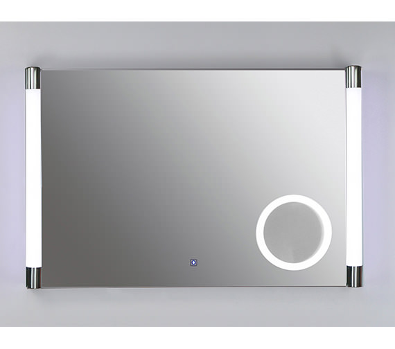 RAK Lucido Plus Silver Framed LED Touch Sensor Mirror 775 x 500mm
