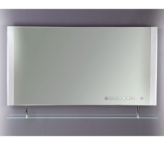 RAK Reflections 85 White Framed LED Touch Sensor Mirror With Shelf