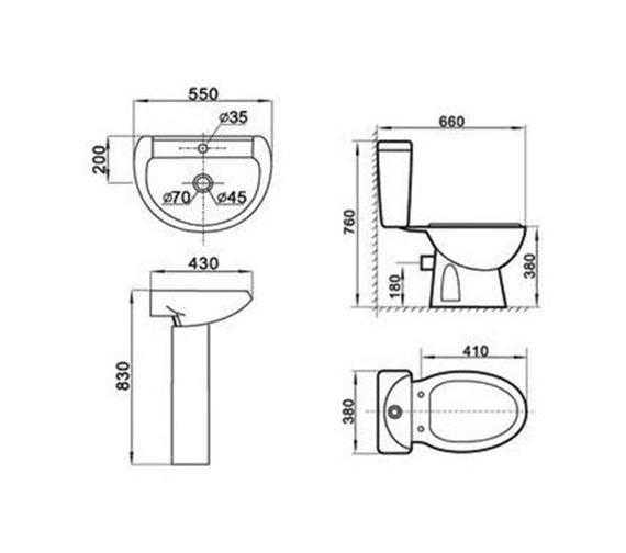 Technical drawing QS-V1010 / AQVA/LMK839+MG309