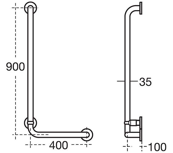 Technical drawing QS-V10118 / S6474AC