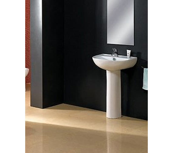 Aqva Milan Basin and Pedestal - Complete Cloakroom Suite