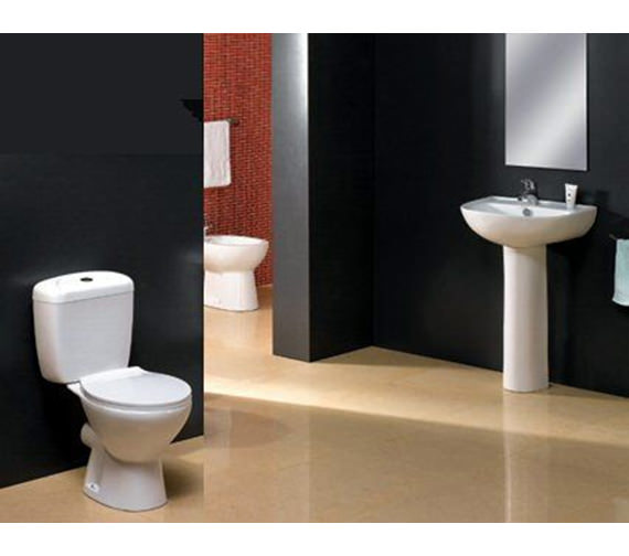 Additional image of Aqva Milan Basin and Pedestal - Complete Cloakroom Suite