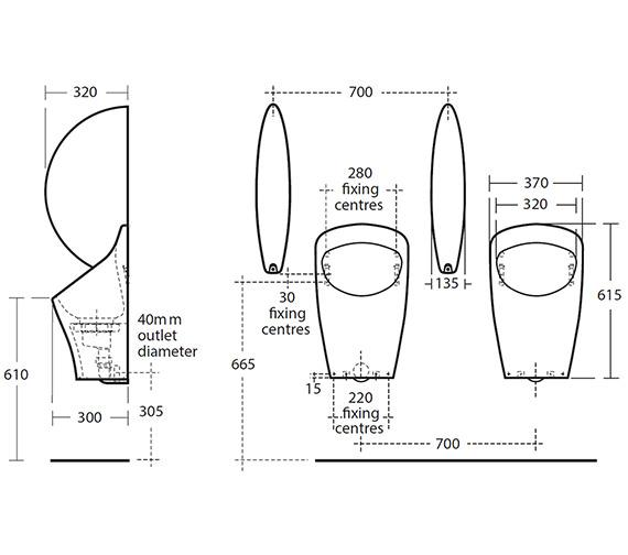 Technical drawing QS-V10132 / S632101