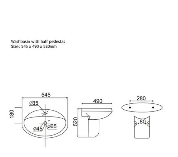 Technical drawing QS-V1018 / AQVA/LMK - 922