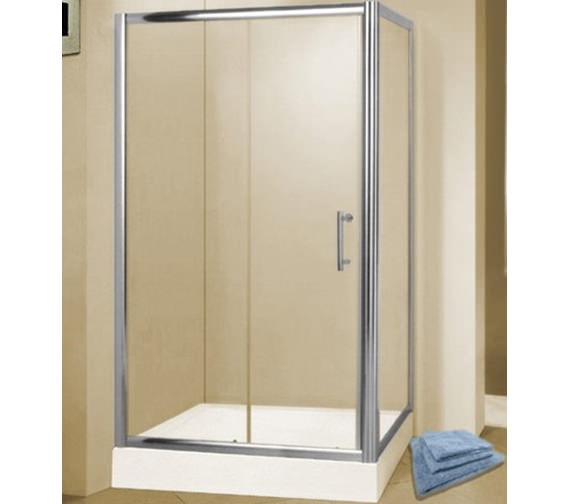 Aqva QX Chrome 1200 x 900mm Slider Shower Door