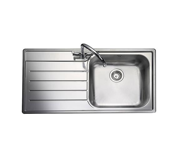 Rangemaster Oakland 1 Bowl Stainless Steel Kitchen Sink - Left Hand Drainer