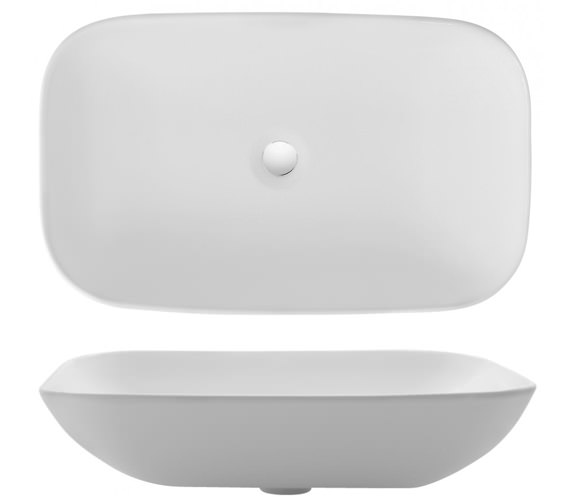 Bauhaus Gallery Serene 580mm Countertop Basin Without Overflow