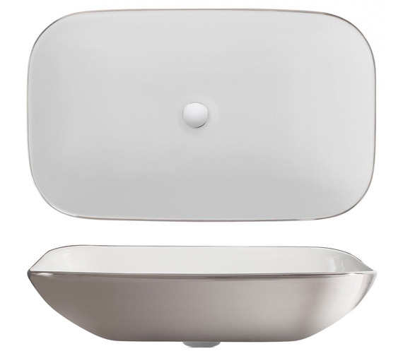 Additional image of Bauhaus Serene 580 x 350mm Countertop Basin Without Overflow