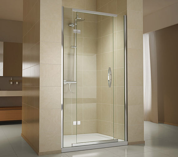 Object moved for 1000mm hinged shower door