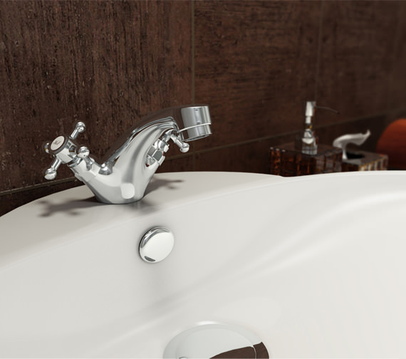 Mayfair Ritz Mono Basin Mixer Tap With Click Waste - RZ017