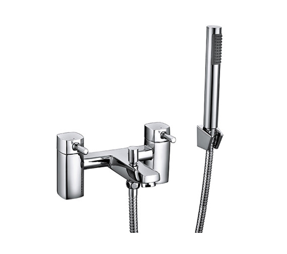 Beo Forte Bath Shower Mixer Tap With Shower Kit And Wall Bracket