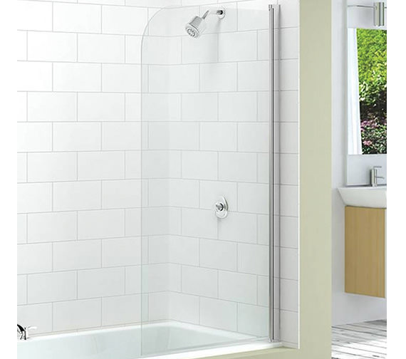 Merlyn Ionic Single Curved Bath Screen 800 x 1500mm