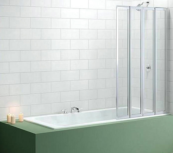 Merlyn Ionic Four Fold Bath Screen 850 x 1400mm - MB4