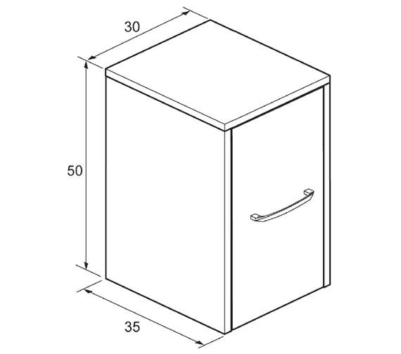 Technical drawing QS-V34306 / ES3035FEB