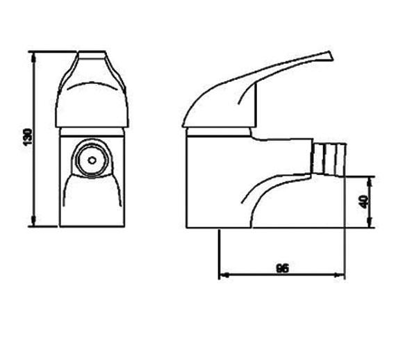 Technical drawing QS-V13080 / BEO-1688