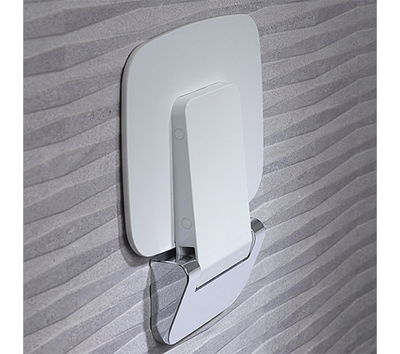 Roper Rhodes Compact Thermoset Plastic Shower Seat - 8020