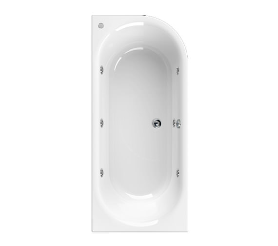 Aquaestil Metauro 2 Left Hand 1800 x 800mm Whirlpool 6 Jets Bath