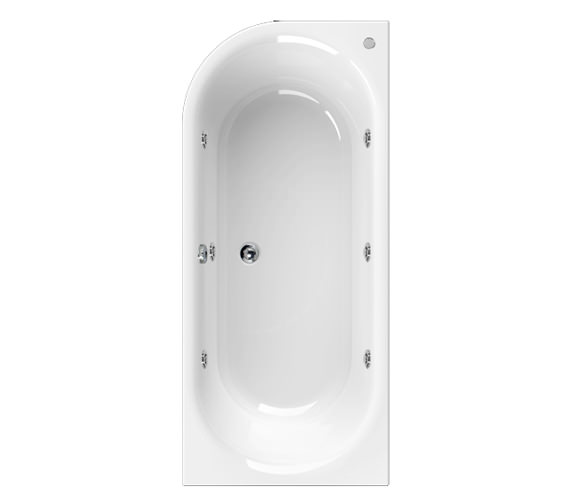 Aquaestil Metauro 2 Right Hand 1800 x 800mm 6 Jets Whirlpool Bath