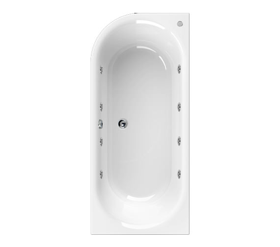 Aquaestil Metauro 2 Right Hand 1800 x 800mm 8 Jets Whirlpool Bath