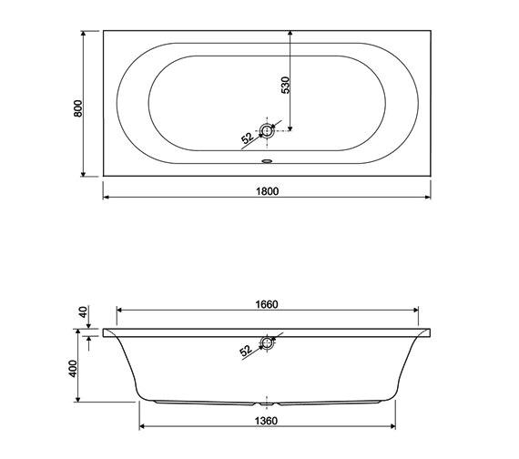 Technical drawing QS-V34673 / 200METAURO31880CWS24