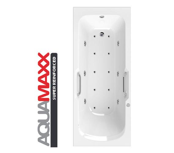 Aquaestil Buckingham Aquamaxx 1700 x 700mm 16 Jets Whirlpool Bath