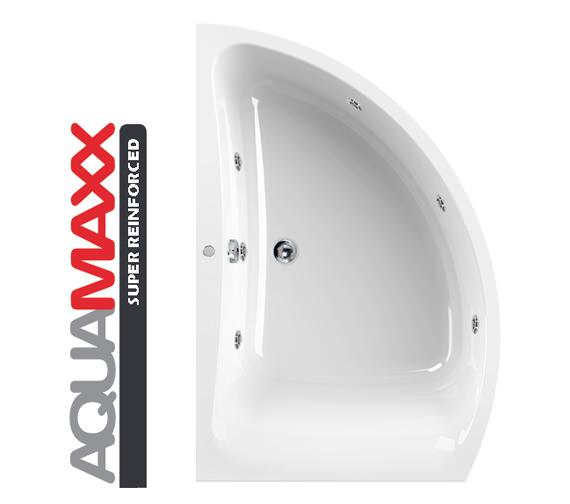 Aquaestil Comet Aquamaxx 1500 x 1000mm Left Hand 6 Jets Whirlpool Bath