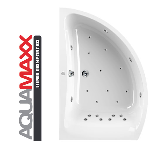 Aquaestil Comet Aquamaxx 1500 x 1000mm 24 Jets Left Hand Whirlpool Bath