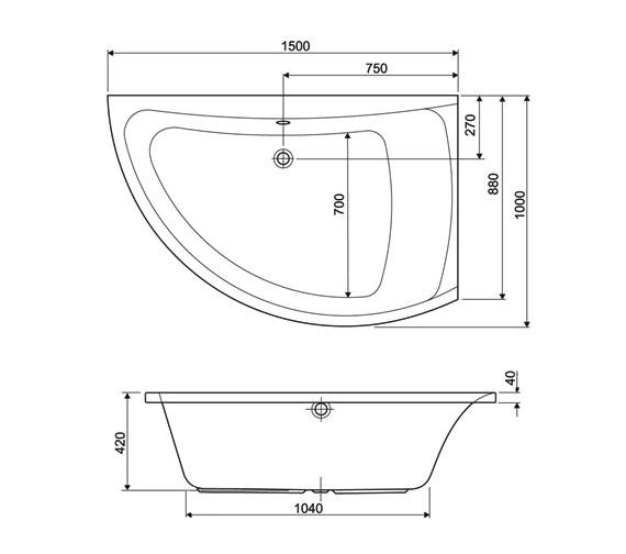 Technical drawing QS-V34755 / 200COMETRHCWS14