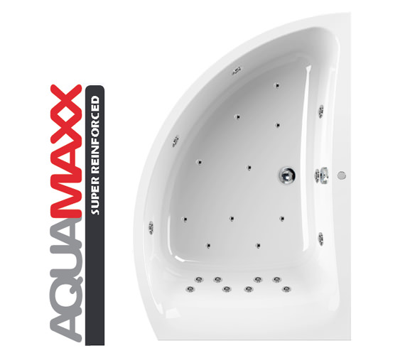 Aquaestil Comet Aquamaxx 1500x1000mm Right Hand 24 Jets Whirlpool Bath